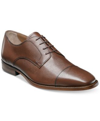 Florsheim Men's Sabato Cap Toe Textured Oxfords