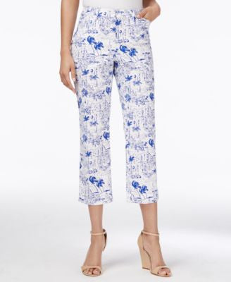 Charter Club Tropical-Print Cropped Pants, Only at Vogily