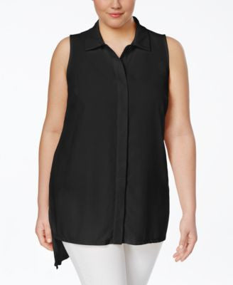 INC International Concepts Plus Size Sleeveless Shirt, Only at Vogily