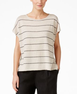 Eileen Fisher Linen Striped Top