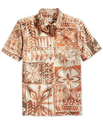 Quiksilver Watermans Men's Bone South Swell Allover Printed Shirt
