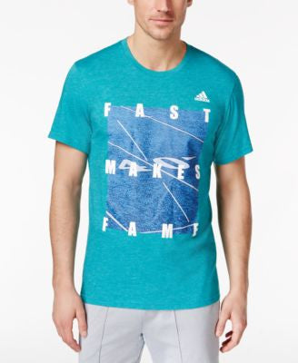 adidas Men's Fast Makes Fame Graphic T-Shirt