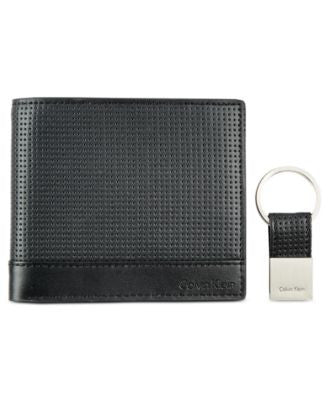 Calvin Klein Men's Billfold & Key Fob Set