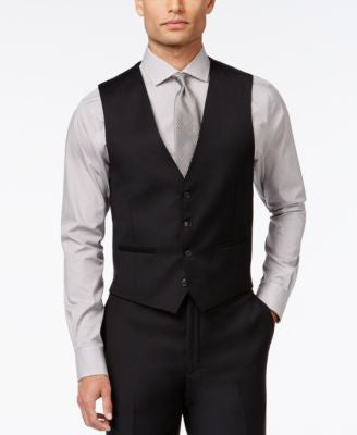 Calvin Klein Black Solid Slim-Fit Vest