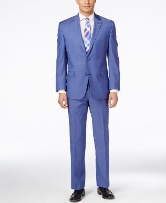 Shaquille O'Neal Collection Men's Big & Tall Medium Blue Classic-Fit Suit Separates, Only at Vogily