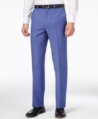 Shaquille O'Neal Collection Men's Big & Tall Medium Blue Classic-Fit Pants, Only at Vogily