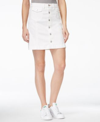Dittos Chloe A-Line White Wash Denim Skirt