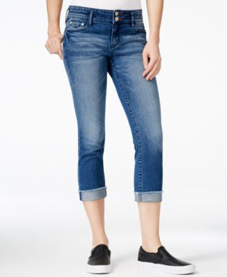Dittos Skylar Medium Blue Wash Cropped Skinny Jeans
