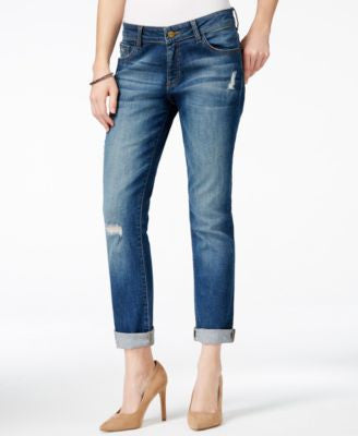 M1858 Jane Boyfriend Dark Blue Wash Jeans, Only at Vogily