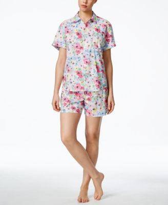 Lauren Ralph Lauren Short-Sleeve Shirt and Boxer Pajama Set