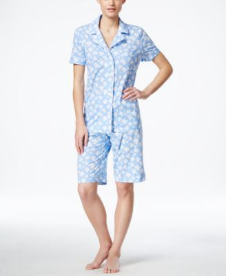 Lauren Ralph Lauren Floral Top and Bermuda Shorts Pajama Set