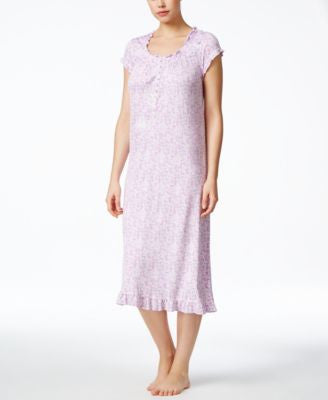 Eileen West Ruffle-Trim Nightgown