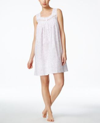 Eileen West Sleeveless Embroidered Nightgown