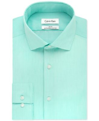 Calvin Klein STEEL Men's Big & Tall Fineline Striped Dress Shirt