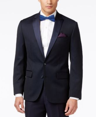 Ryan Seacrest Distinction Men's Blue Dot Slim-Fit Sport Coat, Only at Vogily