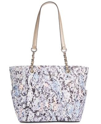 Calvin Klein Printed Saffiano Leather Tote