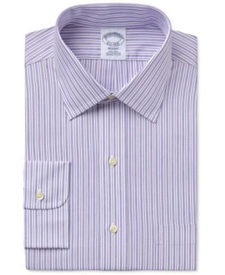 Brooks Brothers Men's Regent Classic-Fit Purple Striped Dress Shirt
