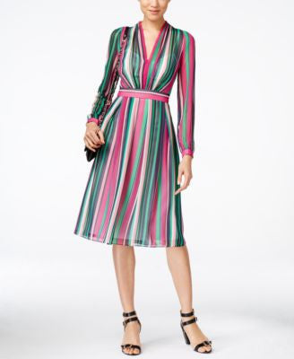 Anne Klein Striped A-Line Dress