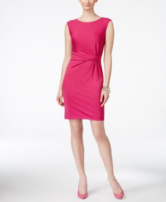 Anne Klein Side-Twist Sleeveless Sheath Dress