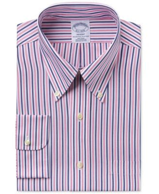 Brooks Brothers Men's Regent Classic-Fit Pink Striped Dress Shirt