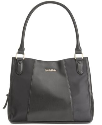 Calvin Klein Triple Compartment Nylon Trim Shopper