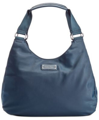Calvin Klein Triple Compartment Dressy Nylon Hobo