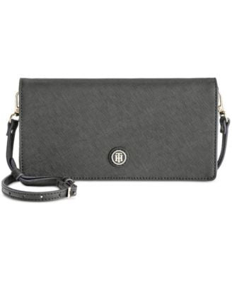 Tommy Hilfiger TH Enamel-Serif Convertible Crossbody Clutch