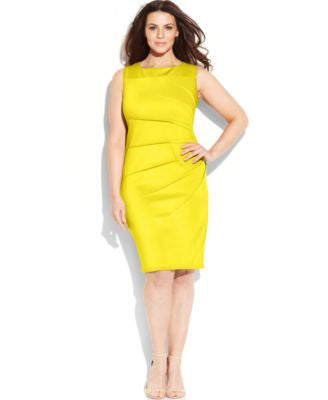 Calvin Klein Plus Size Sleeveless Starburst Sheath Dress