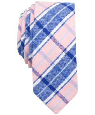 Penguin Men's Brandon Plaid Skinny Tie