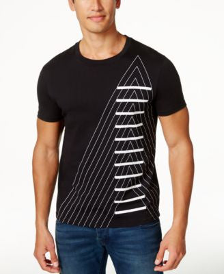 Armani Exchange Men's A-Stacked Graphic-Print T-Shirt