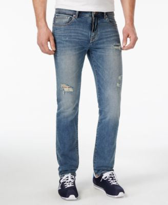 Armani Exchange Men's Slim-Fit Distressed Jeans