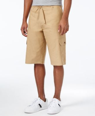 Sean John Men's Big & Tall Lightweight Linen Cargo Shorts