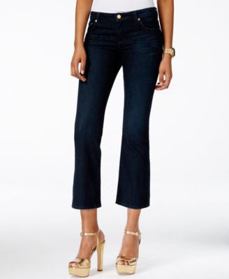 MICHAEL Michael Kors Izzy Cropped Stellar Wash Flare-Leg Jeans