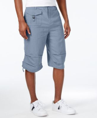 Sean John Men's Lightweight Solid Big & Tall Utility Shorts