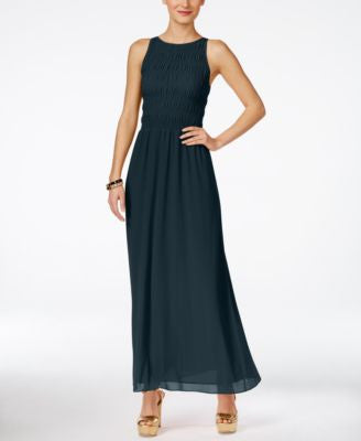 MICHAEL Michael Kors Petite Smocked Halter Maxi Dress