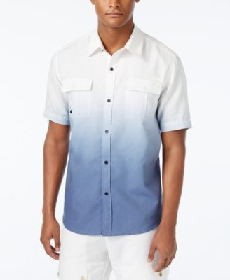 Sean John Men's Lightweight Dip-Dye Short-Sleeve Shirt