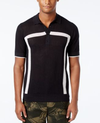 Sean John Men's Intarsia Sweater-Knit Polo