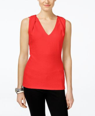 MICHAEL Michael Kors Petite Twist-Shoulder Textured Top