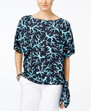 MICHAEL Michael Kors Plus Size Printed Side-Tie Top