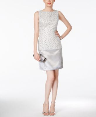 B Michael Sleeveless Brocade Sheath Dress