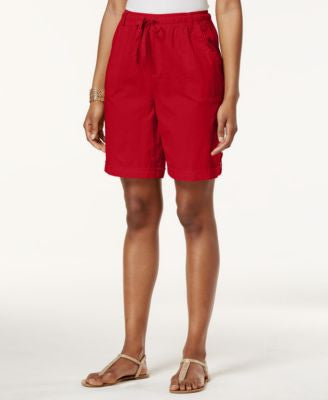 Karen Scott Tab-Cuff Drawstring Shorts, Only at Vogily