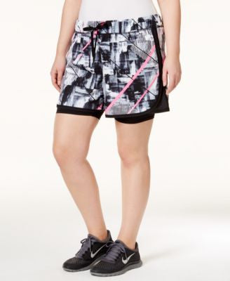 Ideology Plus Size Layered Shorts, Only at Vogily