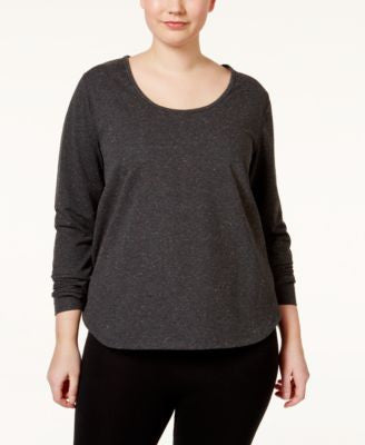 Jessica Simpson The Warm Up Plus Size Cutout-Back Top