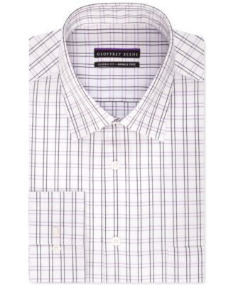 Geoffrey Beene Men's Classic-Fit Purple Checked Dress Shirt