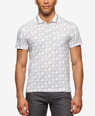 Calvin Klein Men's Patterned Fancy Liquid Cotton Polo Shirt