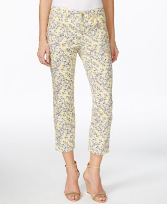 Charter Club Bristol Printed Slim-Leg Capri Jeans, Only at Vogily