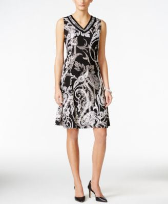JM Collection Printed A-Line Dress, Only at Vogily