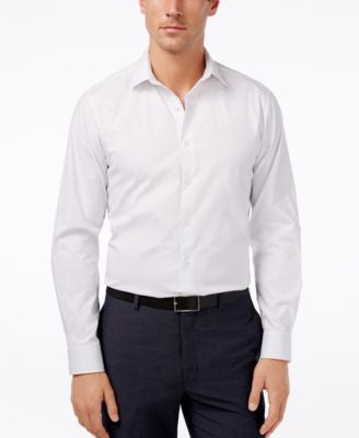 Alfani Spectrum Slim-Fit Dot Print Dress Shirt, Only at Vogily