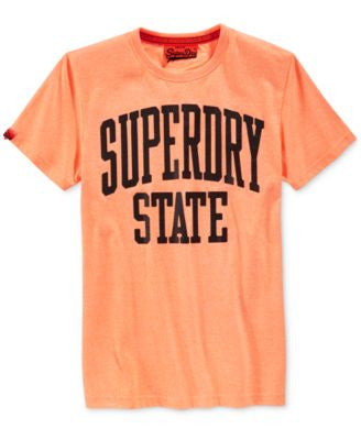 Superdry Men's State Fluorescent Graphic-Print Logo T-Shirt