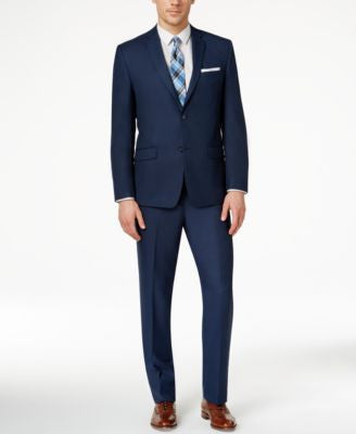 Marc New York by Andrew Marc Men's Slim-Fit Solid Blue Suit